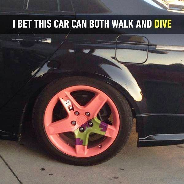 I Bet This Car Can Both Walk And Dive