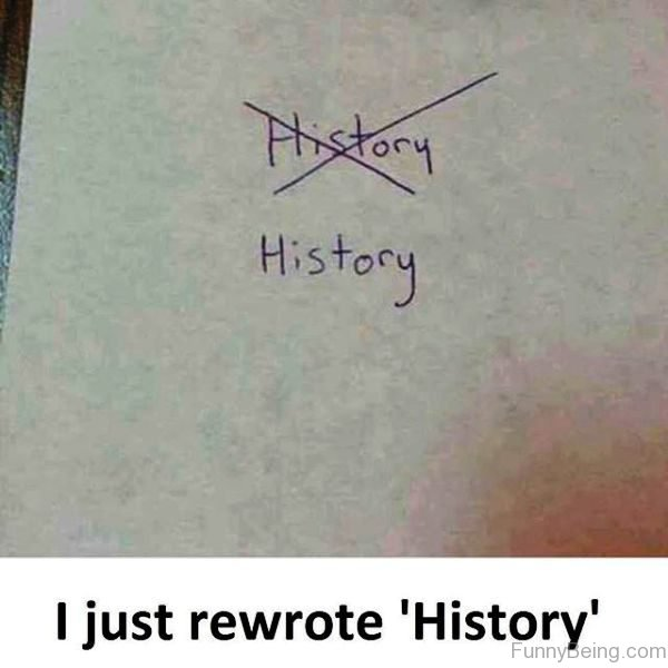 I Just Rewrote History