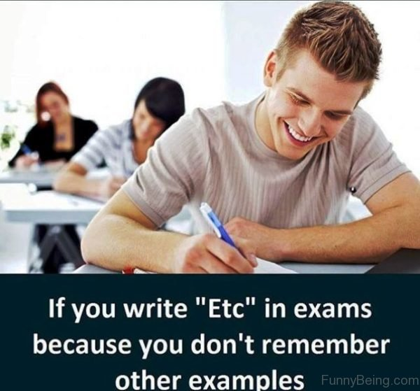 If You Write Etc In Exams