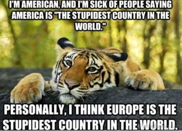 Im American And Im Sick Of People