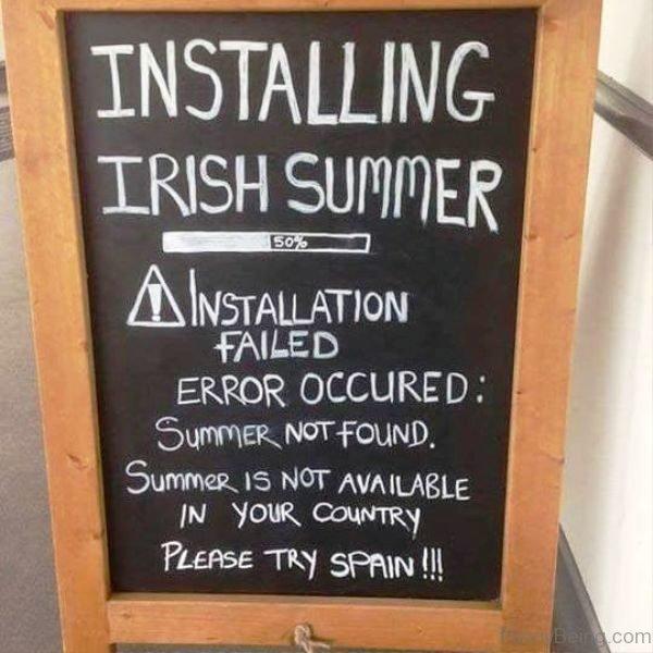 Installing Irish Summer