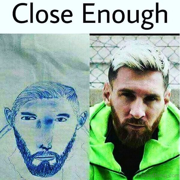 Lionel Messi Close Enough