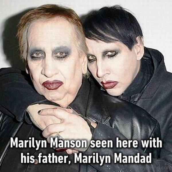 Marilyn Manson Seen Here