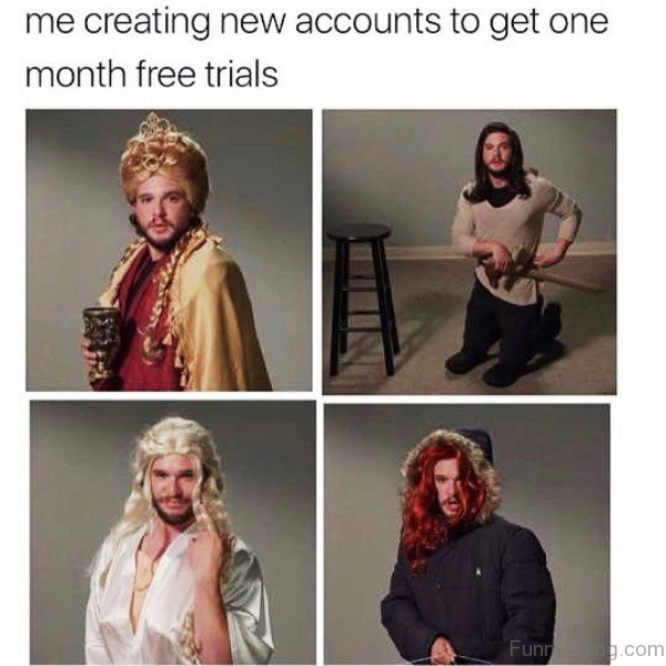 Me Creating New Accounts