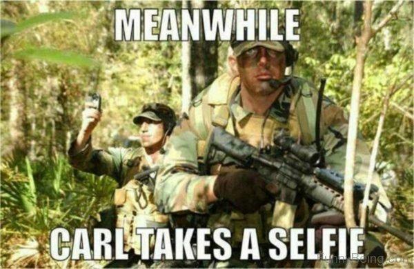 Meanwhile Carl Takes A Selfie