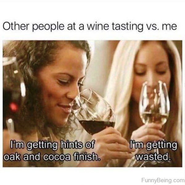 Other People At A Wine Tasting Vs Me