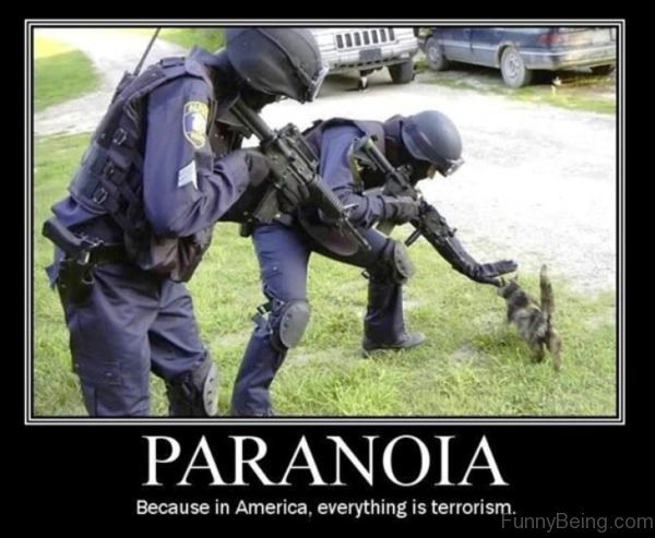 Paranoia Because In America