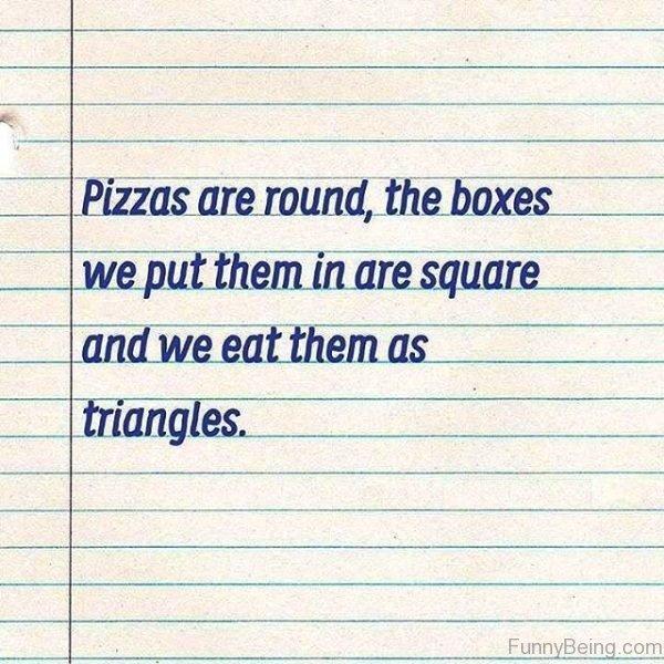Pizzas Are Round