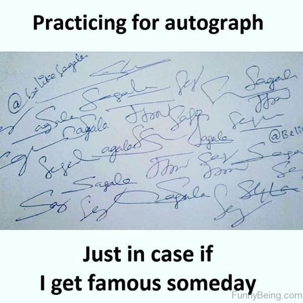 Practicing For Autograph