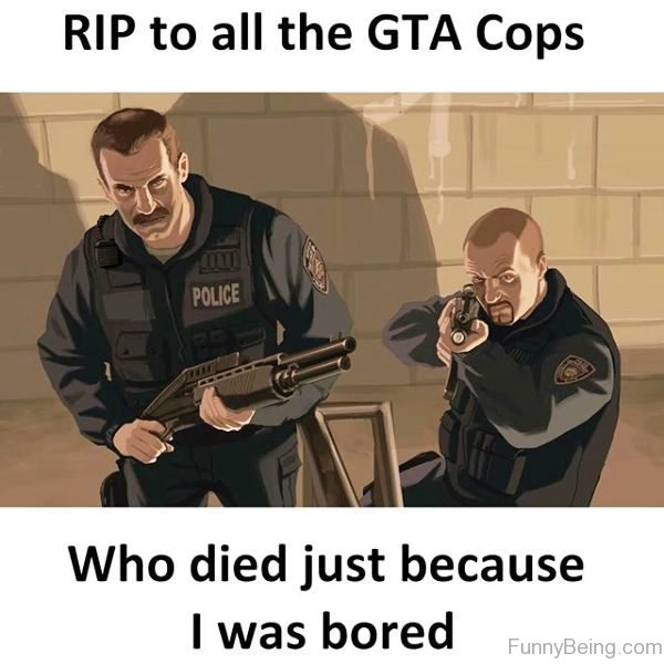 RIP To All The GTA Cops