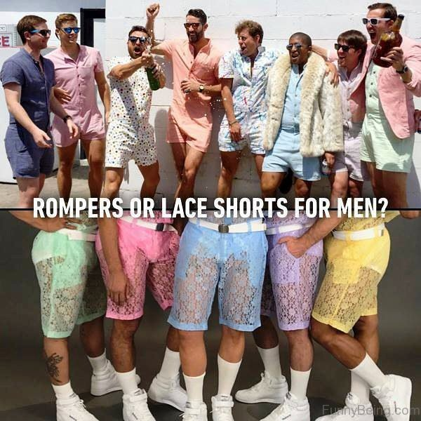 Rompers Or Lace Shorts For Men