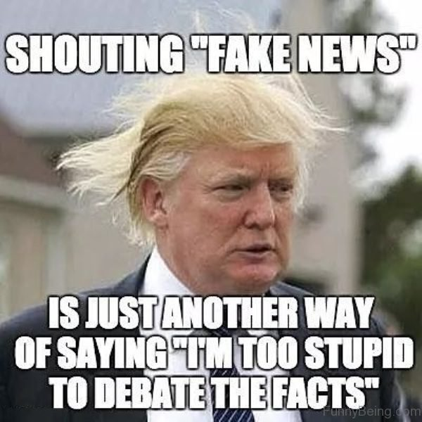 Shouting Fake News