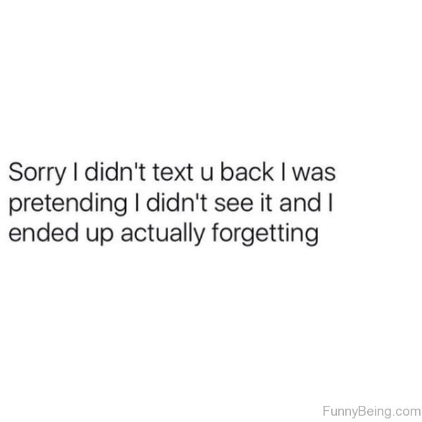 Sorry I Didnt Text You Back