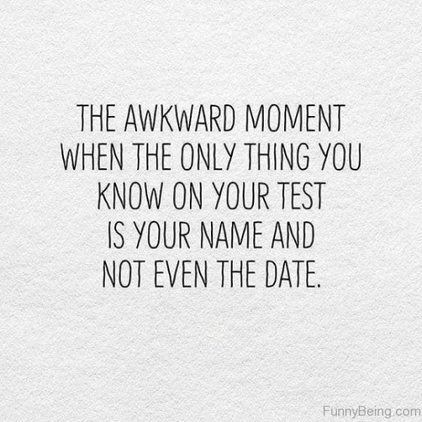 The Awkward Moment When The Only Thing