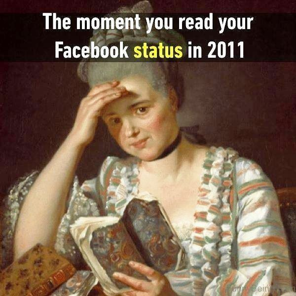 The Moment You Read Your Facebook Status