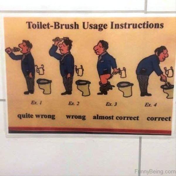 Toilet Brush Usage Instructions