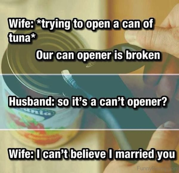 Trying To Open A Can Of Tuna