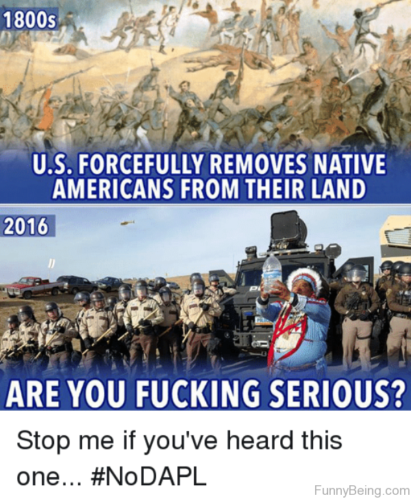 US Forcefully Removes Native