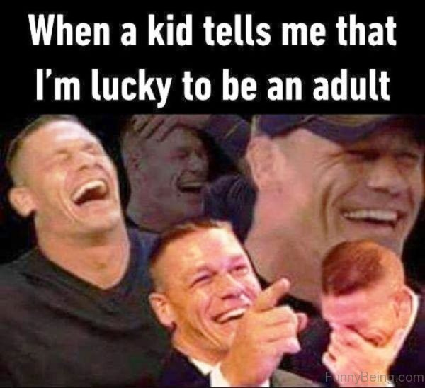 When A Kid Tells Me That Im Lucky
