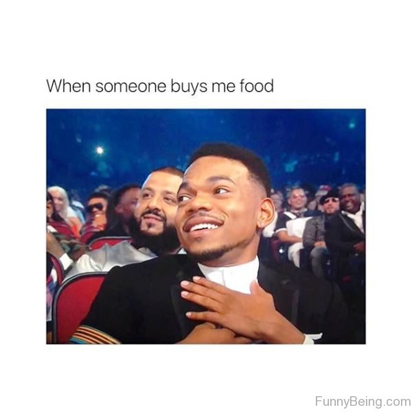 When Someone Buys Me Food