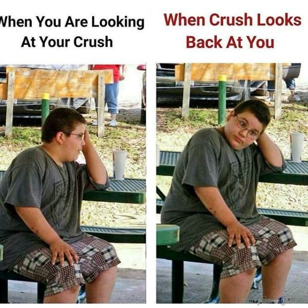 When You Are Looking At Your Crush