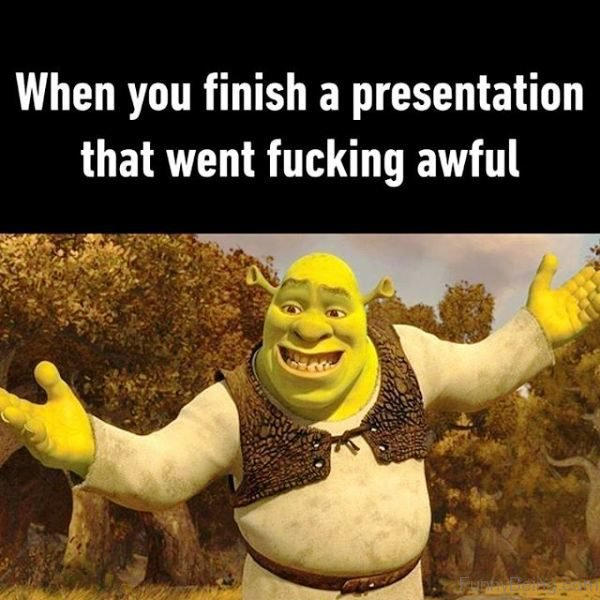 When You Finish A Presentation That Went