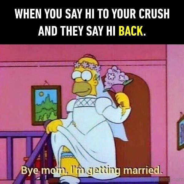 When You Say Hi To Your Crush