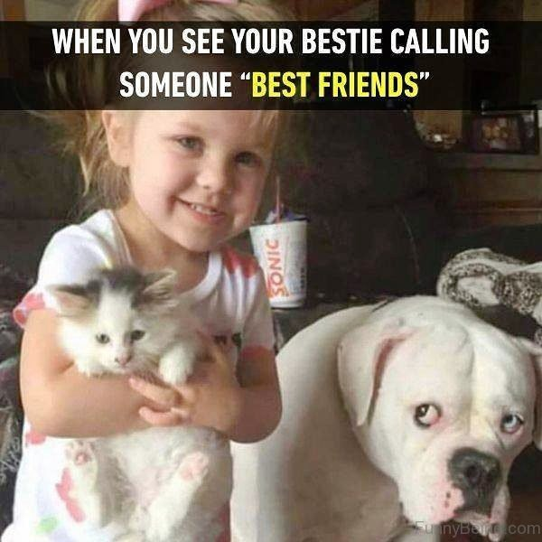 When You See Your Bestie Calling