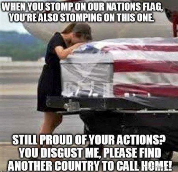 When You Stomp On Our Nations Flag