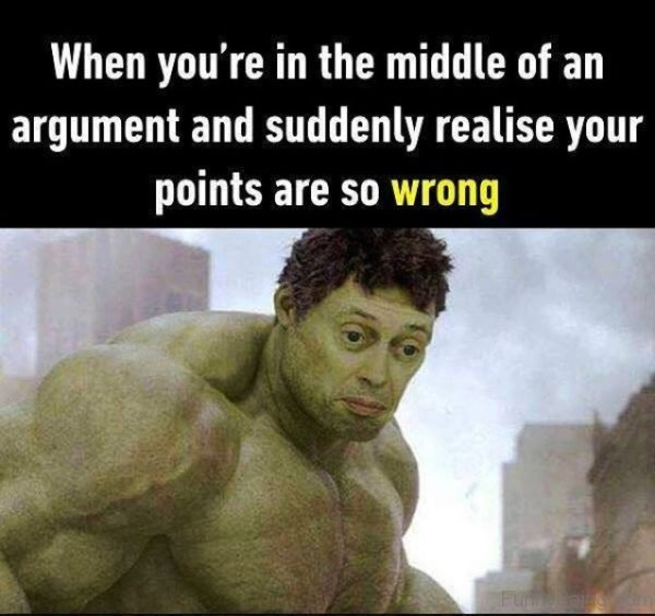 When You re In The Middle Of An Argument