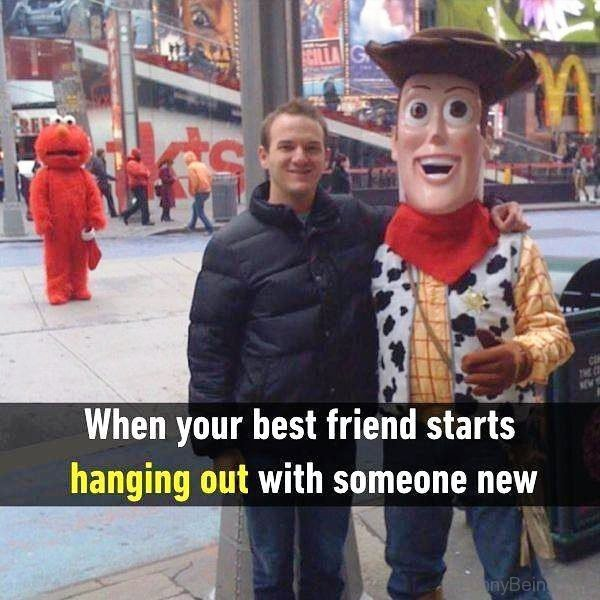When Your Best Friend Starts Hanging Out