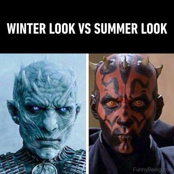 Winter Look Vs Summer Look