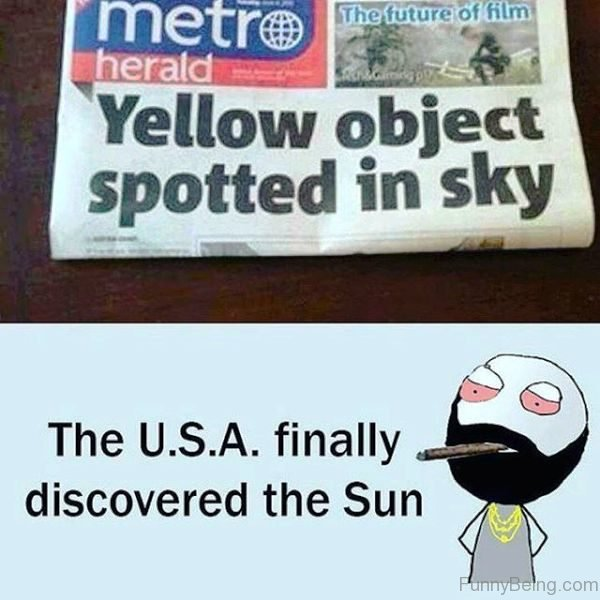 Yellow Object Spotted In Sky