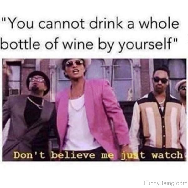 You Cannot Drink A Whole Bottle Of Wine
