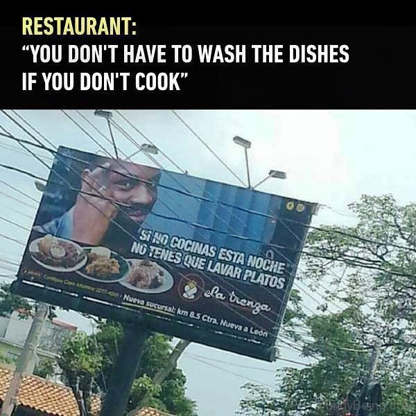 You Dont Have To Wash The Dishes