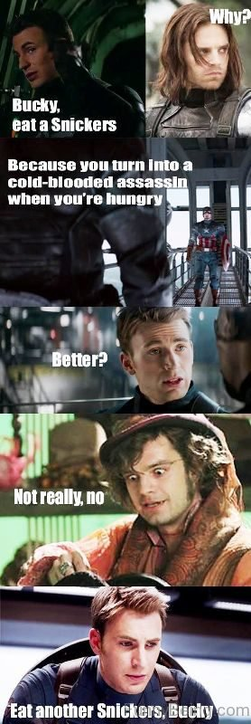 Bucky Eat A Snickers