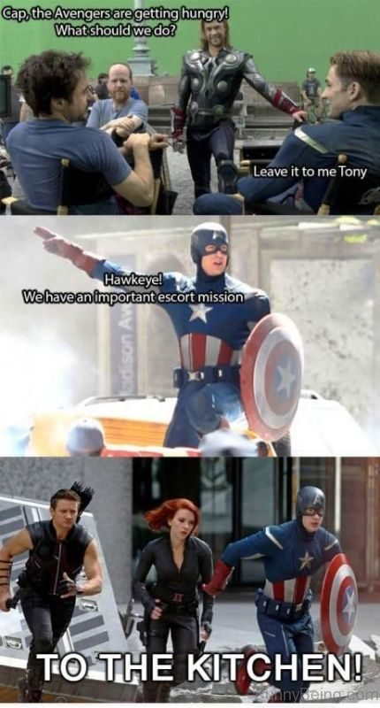 Cap The Avengers Are Getting Hungry