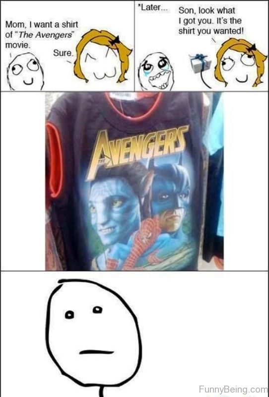 Mom I Want A Shirt Of The Avengers Movie