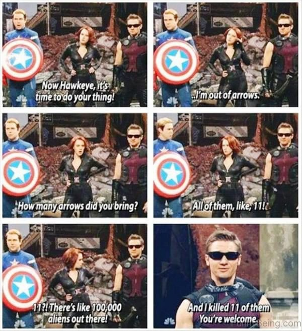 Now Hawkeye Its Time To Do Your Thing