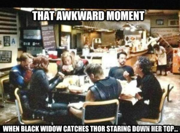 That Awkward Moment When Black Widow