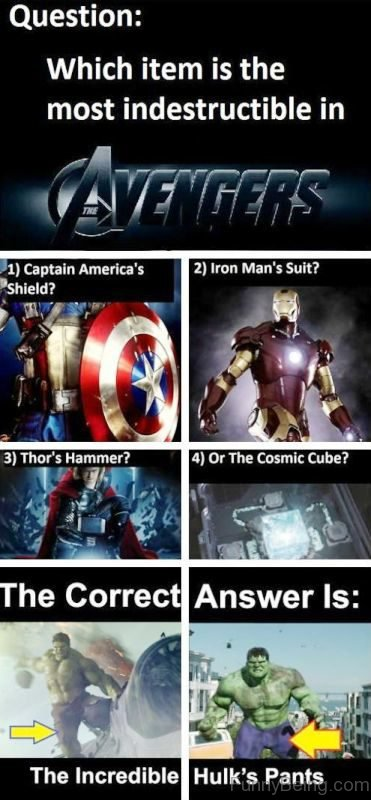 Which Item Is The Most Indestructible In Avengers