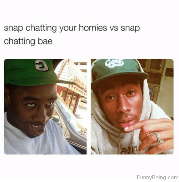 Snap Chatting Your Homies