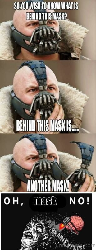 So You Wish To Know What Is Behind This Mask